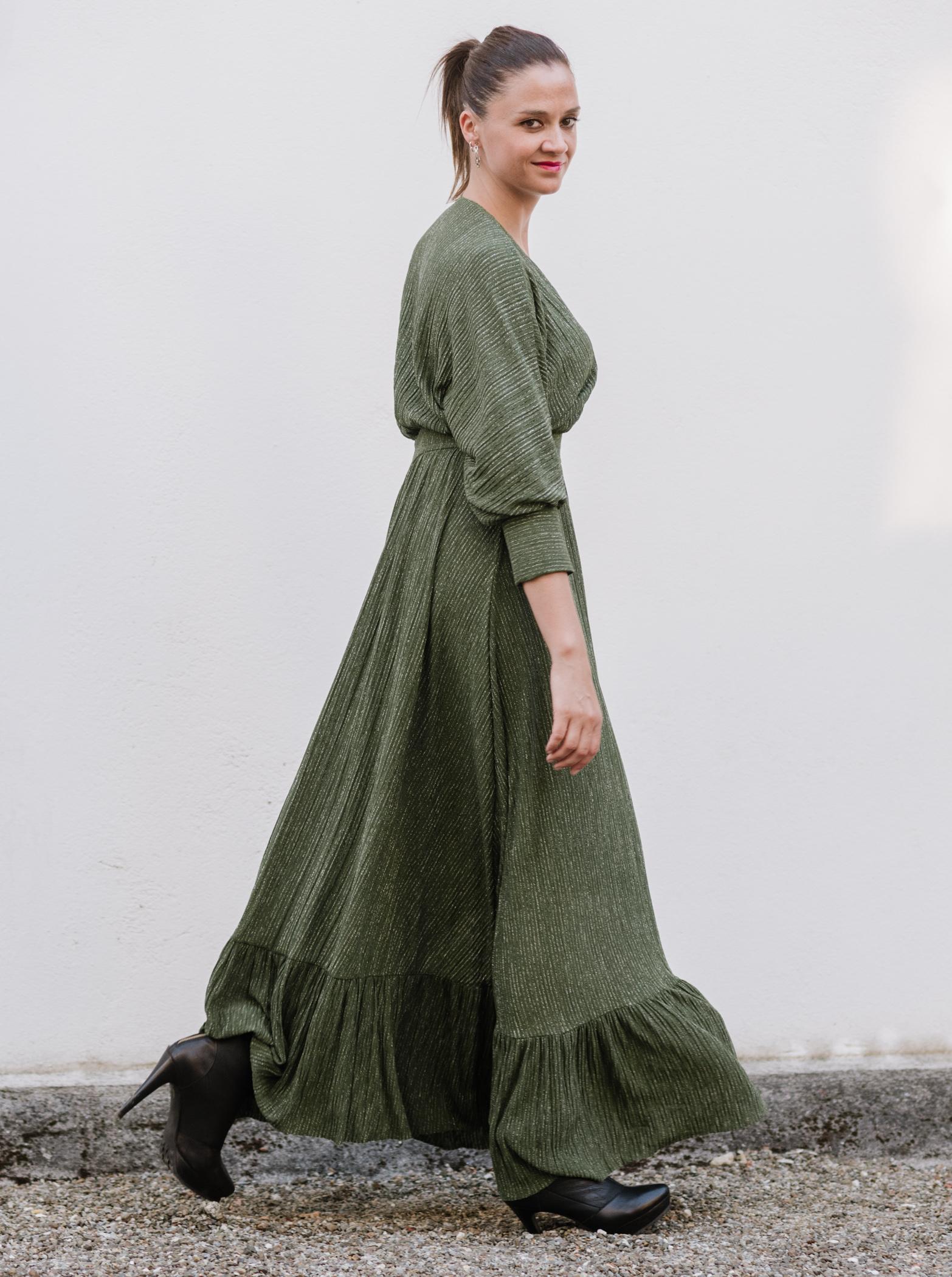 Vestido vuelo verde