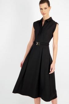 Vestido negro cinturón