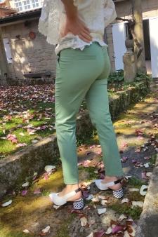 Pantalón bolsillo francés verde