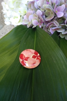 Broche Full of Grace Coral Gold