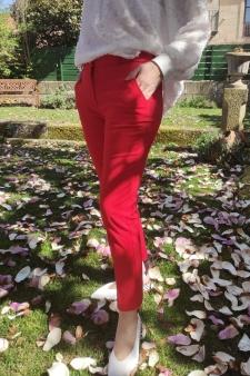 Pantalón bolsillo francés rojo