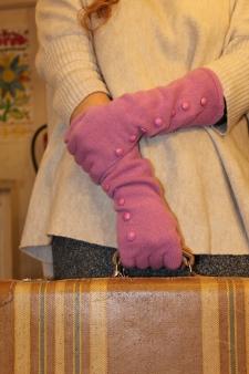 Guante cashmere rosa
