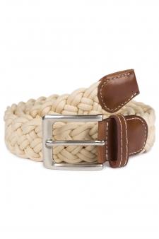 Cinturón cuerda trenzada Crema