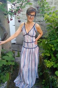 Maxi vestido de tiras