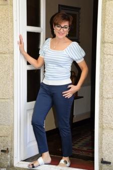 Pantalón bolsillo francés azul
